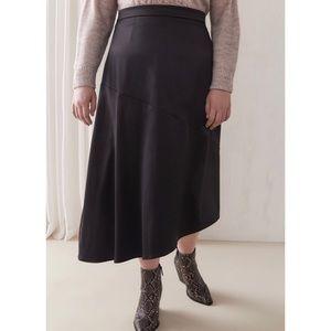 🆕 Black Satin Asymmetrical Skirt 22 Addition Elle
